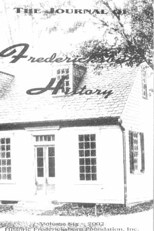 an image of The Journal of Fredericksburg History, V6