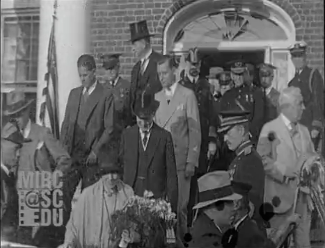 Click image to view film footage of the President Calvin Coolidge's visit to Smithfield and downtown Fredericksburg in 1928.